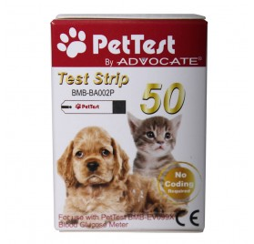 Tiras para glucometro Pet-Test 50ud
