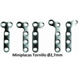 Miniplacas Tornillo Ø2,7mm